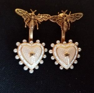 Dior Bee and Heart Earrings